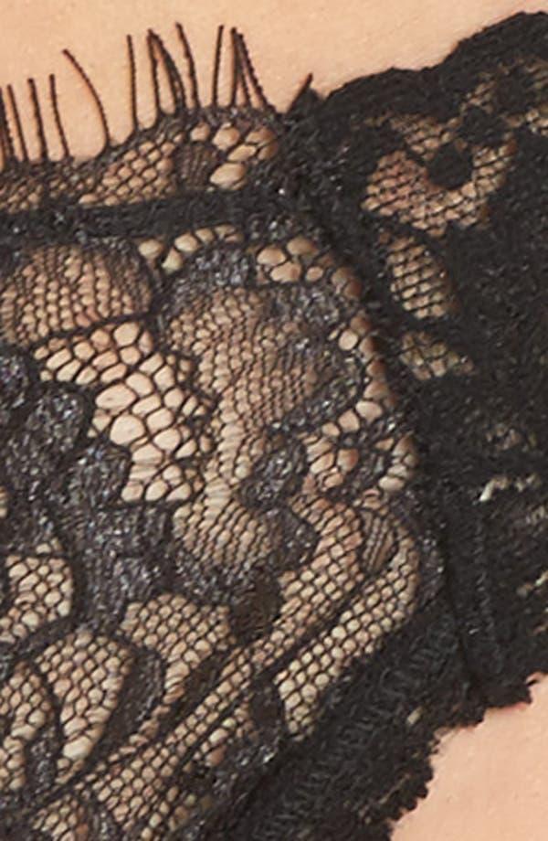 Wink Lace Thong,                             Alternate thumbnail 5, color,                             Black