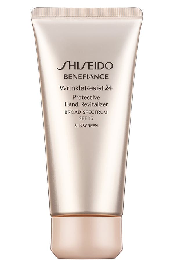 Alternate Image 1 Selected - Shiseido 'Benefiance WrinkleResist24' Protective Hand Revitalizer SPF 15