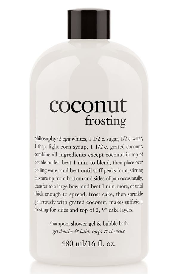 Alternate Image 1 Selected - philosophy 'coconut frosting' shampoo, shower gel & bubble bath