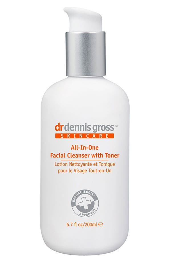 Alternate Image 1 Selected - Dr. Dennis Gross Skincare All-In-One Facial Cleanser with Toner