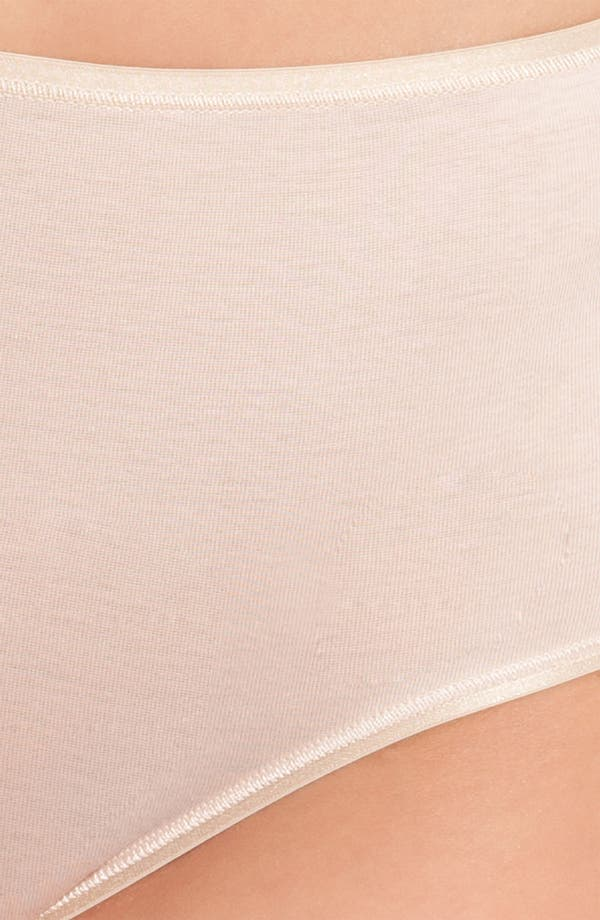 Alternate Image 3  - Hanro Seamless Cotton Full-Cut Briefs