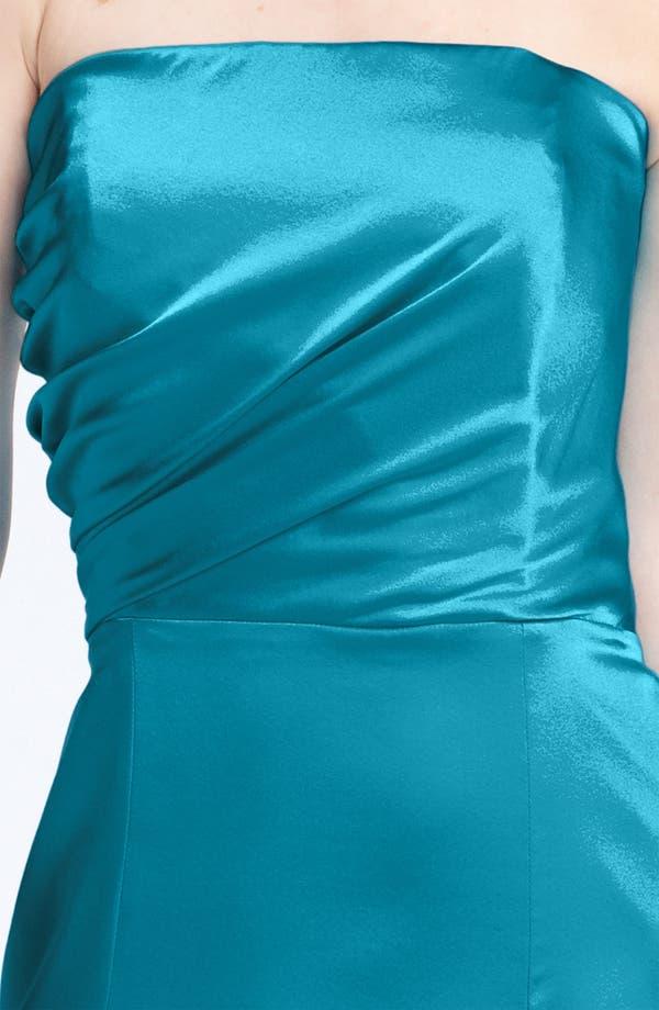 Alternate Image 2  - Anna Elyse Bridesmaids Strapless Charmeuse Dress