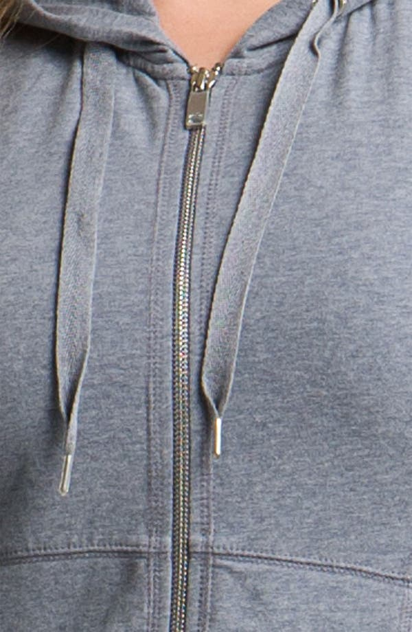 Alternate Image 3  - Zella 'Supersoft' Short Sleeve Hoodie (Plus)