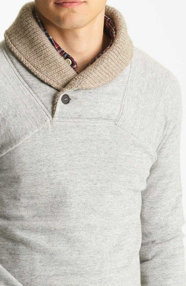 Alternate Image 3  - Billy Reid 'Jackson' Shawl Collar Sweatshirt