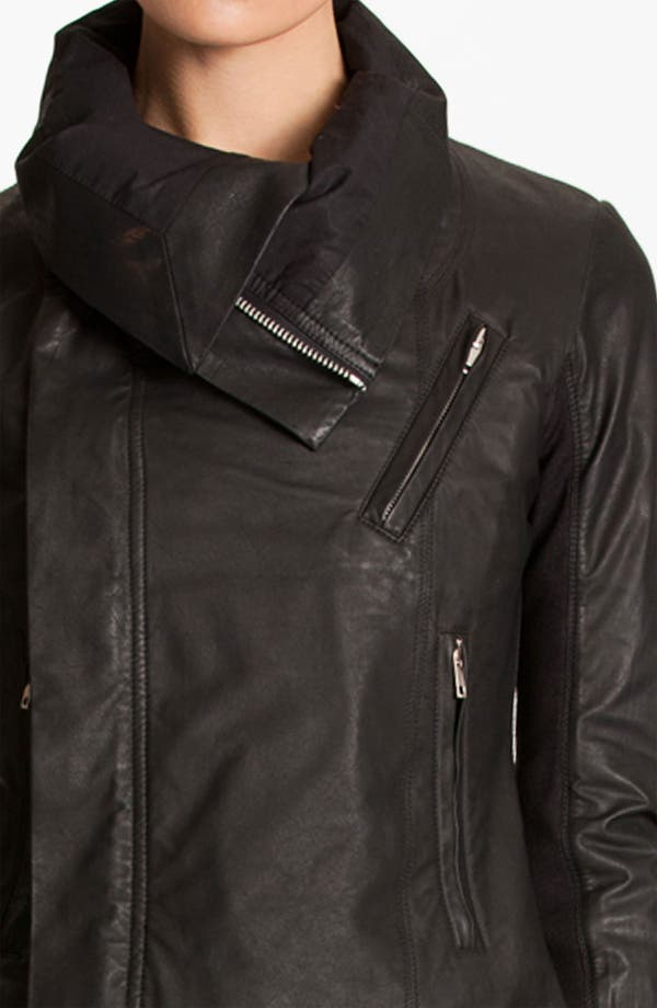 Alternate Image 3  - Rick Owens Quilted Seam Leather Jacket
