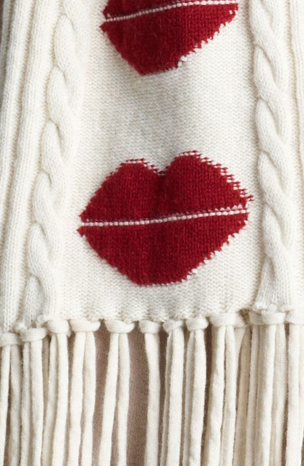 Alternate Image 2  - Sonia Rykiel 'Lips' Wool & Cashmere Scarf