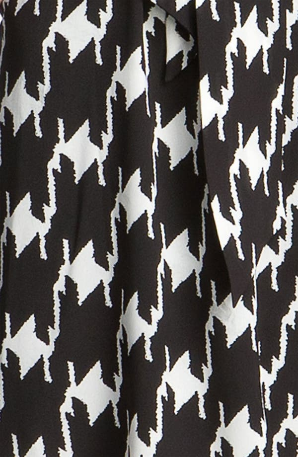 Alternate Image 3  - Vince Camuto Houndstooth Tie Neck Day Dress