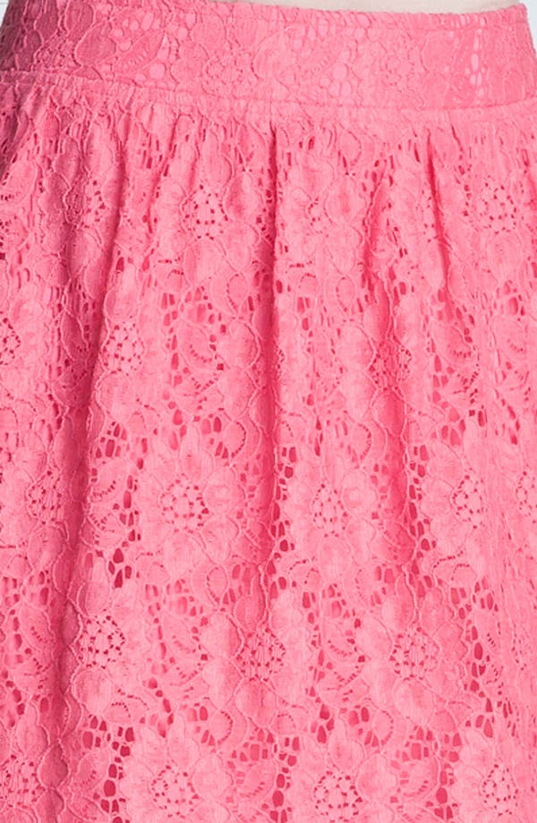 Alternate Image 3  - Frenchi® Lace Skirt (Juniors)
