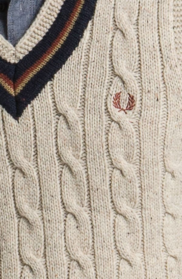 Alternate Image 3  - Fred Perry V-Neck Lambswool Sweater Vest