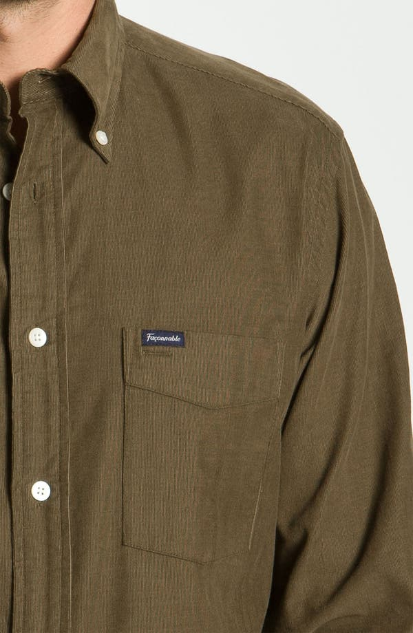 Alternate Image 3  - Façonnable Club Fit Corduroy Sport Shirt