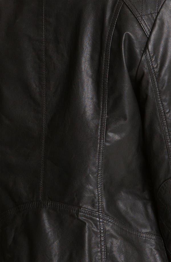 Alternate Image 3  - Caslon® Leather Jacket