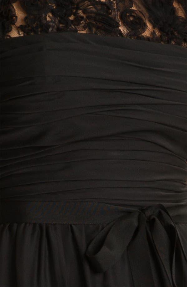 Alternate Image 3  - ML Monique Lhuillier Bridesmaids Chiffon Gown (Nordstrom Exclusive)
