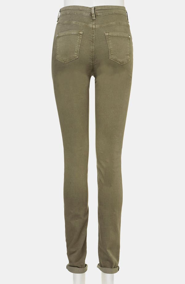 Alternate Image 3  - Topshop 'Leigh' Vintage Wash Skinny Maternity Jeans