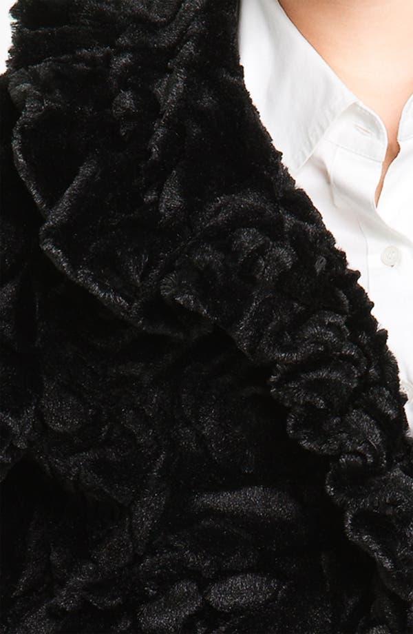 Alternate Image 3  - Damselle Ruffled Faux Fur Crop Coat