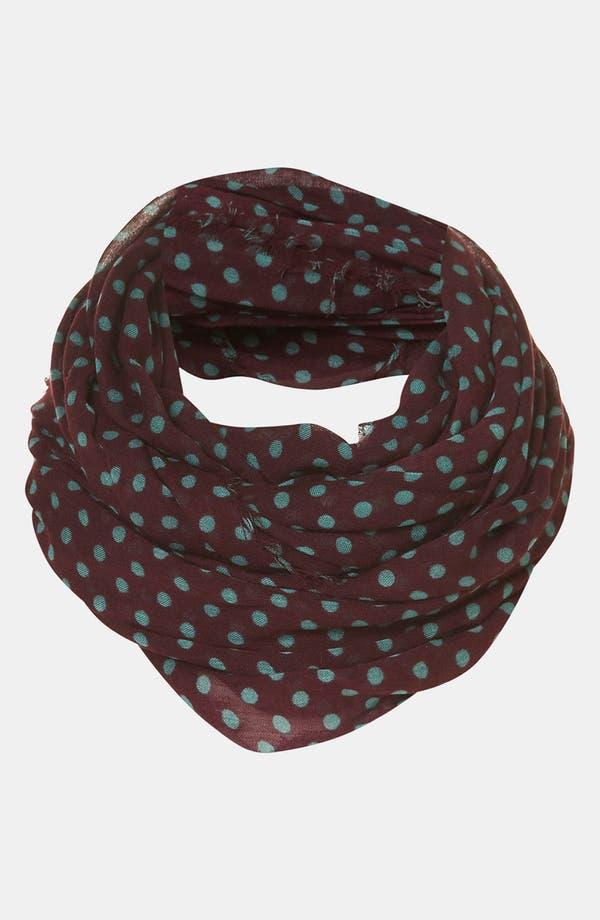 Main Image - Topshop 'Factory Girl' Polka Dot Circle Scarf