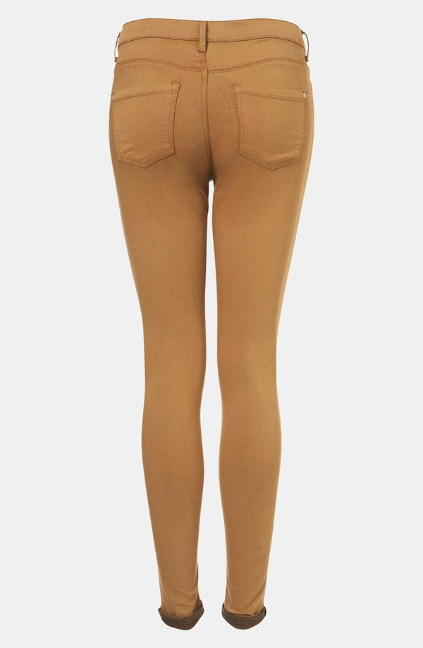 Moto 'Leigh' Skinny Jeans,                             Alternate thumbnail 2, color,                             Tobacco