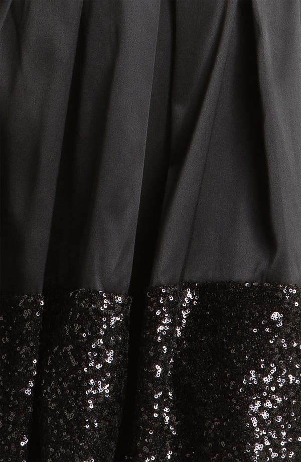 Alternate Image 3  - Taylor Dresses Sequin Hem Satin Fit & Flare Dress