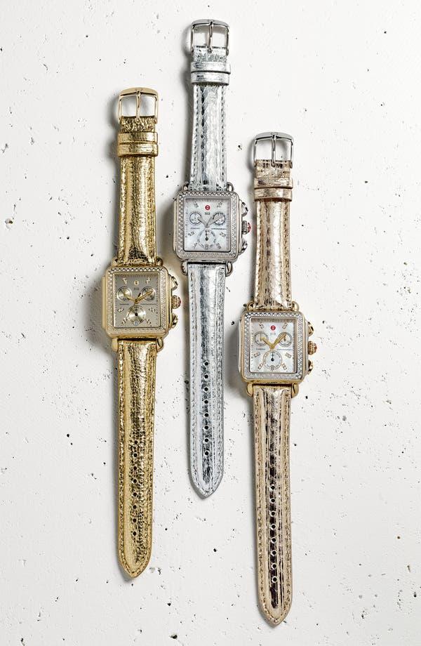 Alternate Image 1 Selected - MICHELE 'Deco Diamond' High Shine Customizable Watch