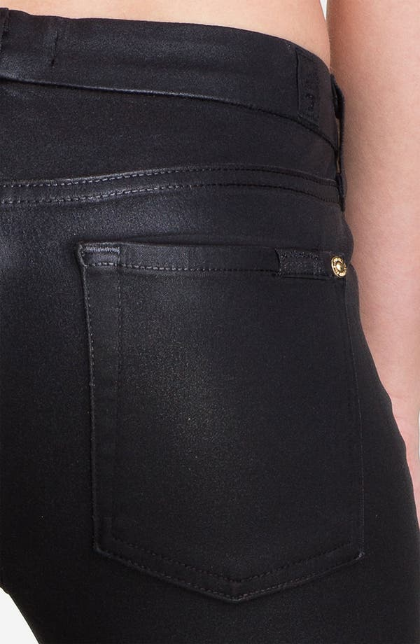 Alternate Image 3  - 7 For All Mankind® Coated Skinny Stretch Jeans (Black)
