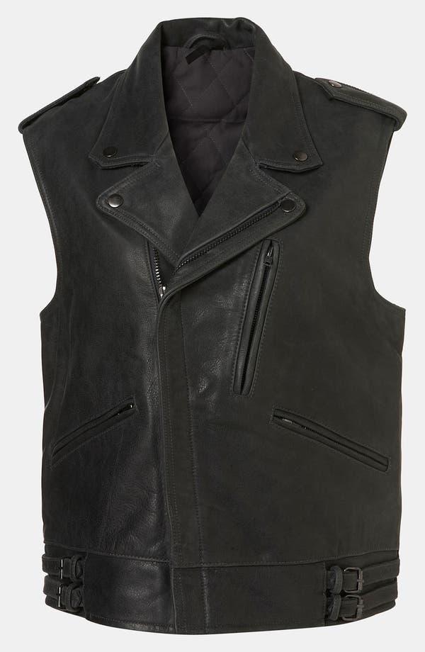 Alternate Image 1 Selected - Topshop Boutique 'Sless' Biker Vest