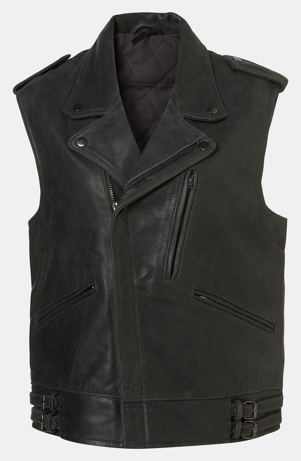 Main Image - Topshop Boutique 'Sless' Biker Vest