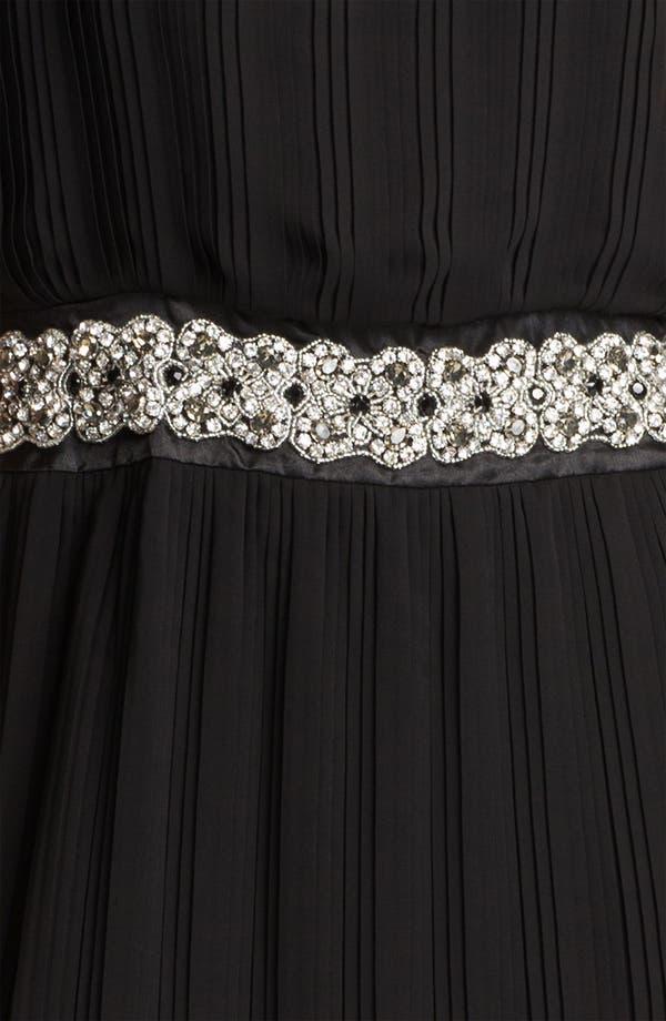 Alternate Image 3  - Eliza J Embellished Waist Pleated Mesh Blouson Dress