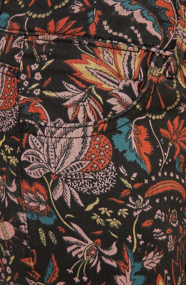 Alternate Image 3  - Topshop Moto 'Scandi' Floral Print Skinny Jeans