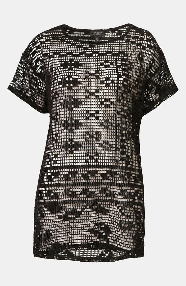 Alternate Image 1 Selected - Topshop Magnified Doily Lace Tee