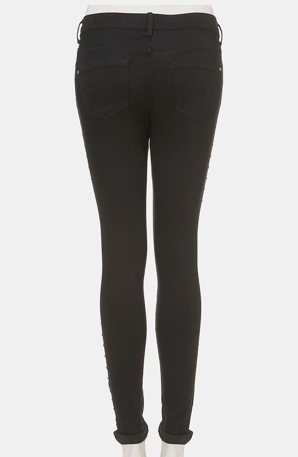 Alternate Image 2  - Topshop Moto 'Leigh' Studded Skinny Jeans