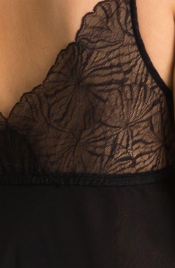Alternate Image 3  - Donna Karan Silky Chiffon Nightgown