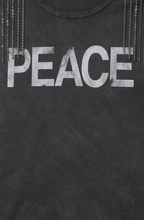 Alternate Image 3  - Topshop 'Peace' Chain Embellished Graphic Tee