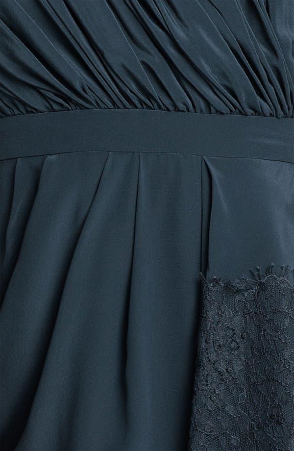 Alternate Image 3  - Shoshanna Strapless Chantilly Lace Trim Silk Dress