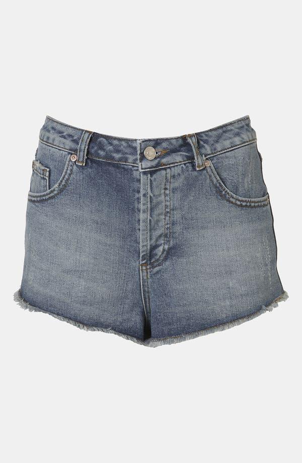Main Image - Topshop Moto 'Holly' Denim Shorts