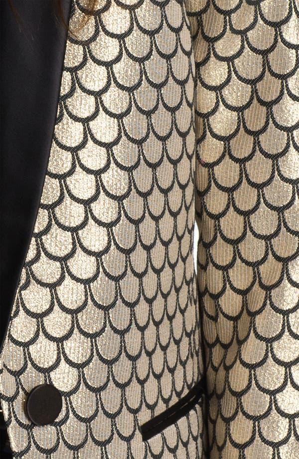 Alternate Image 3  - Juicy Couture Metallic Fishscale Jacquard Jacket