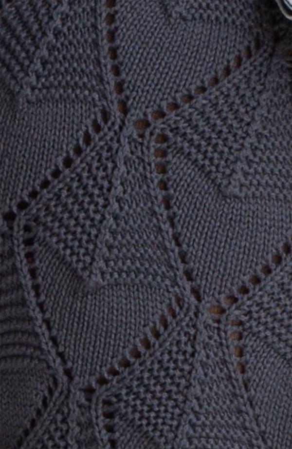 Alternate Image 3  - Cotton Emporium Pointelle Sweater Shorts (Juniors)