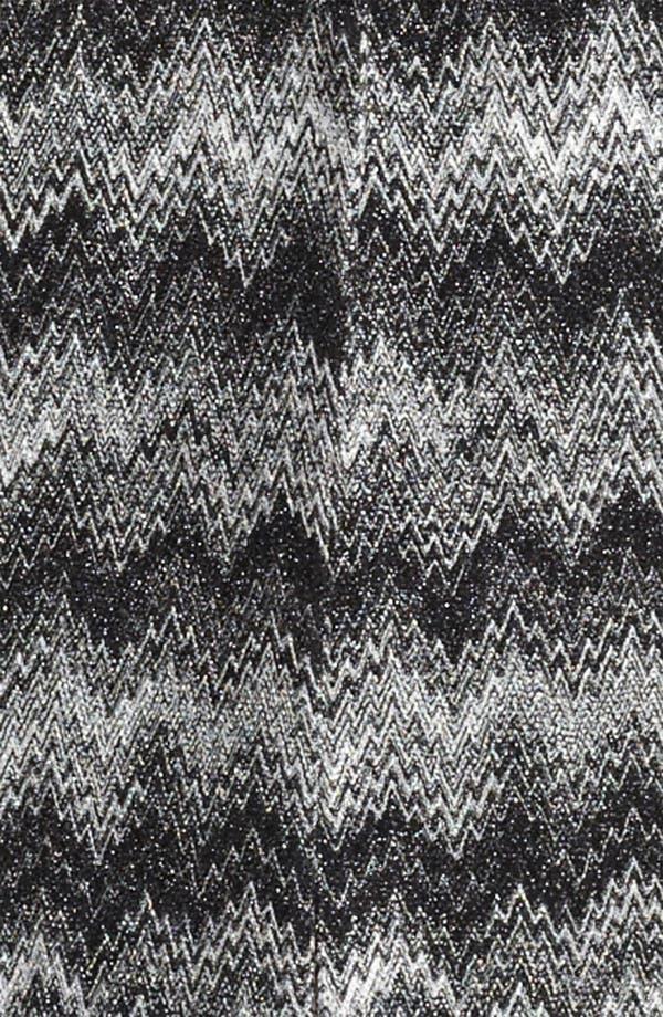 Long Snake Stitch Coat,                             Alternate thumbnail 4, color,                             Black