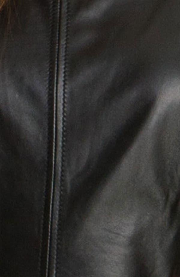 Alternate Image 3  - Halogen® Leather Front Peplum Top (Petite)