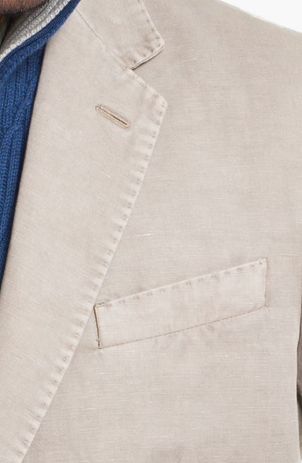 Alternate Image 3  - Canali Washed Cotton & Linen Sportcoat