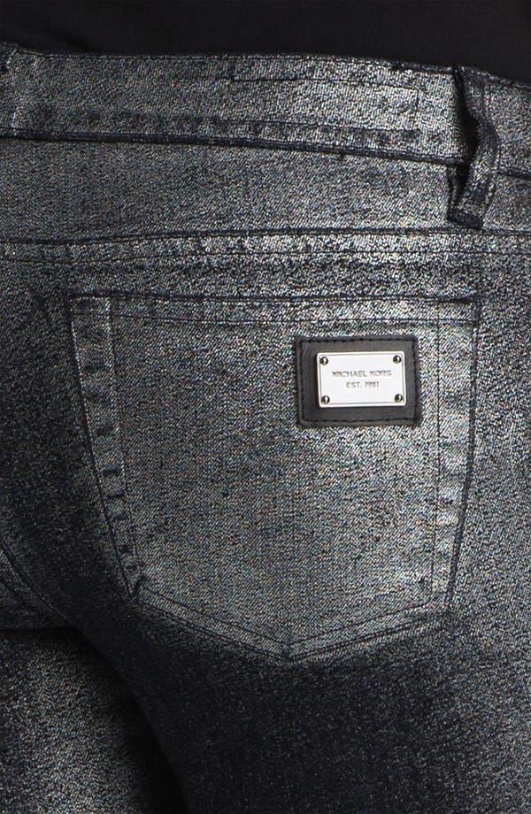 Alternate Image 3  - MICHAEL Michael Kors Metallic Foil Skinny Pants