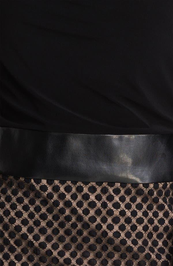 Alternate Image 3  - Adrianna Papell Drape Neck Mock Two Piece Dress (Plus)