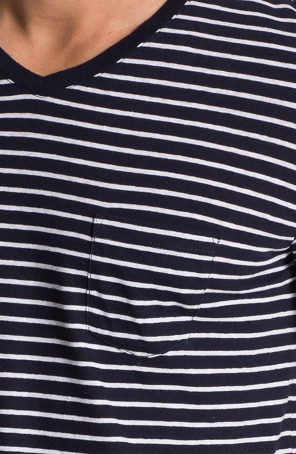 Alternate Image 3  - Vince Stripe Pocket V-Neck T-Shirt