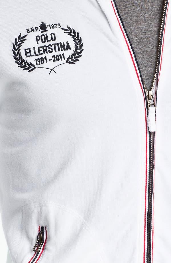 Alternate Image 3  - Etiqueta Negra Zip Front Sweatshirt