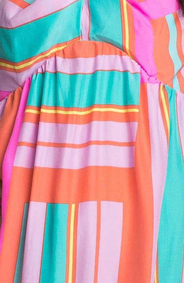 Alternate Image 3  - ALICE & TRIXIE 'Savannah' Printed Silk Halter Dress