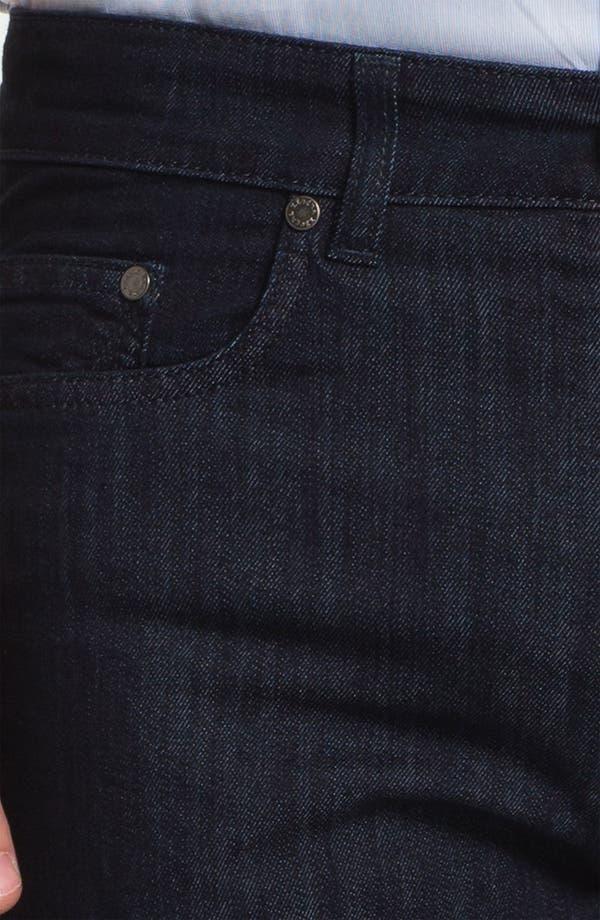 Alternate Image 4  - Z Zegna Straight Leg Jeans (Black)