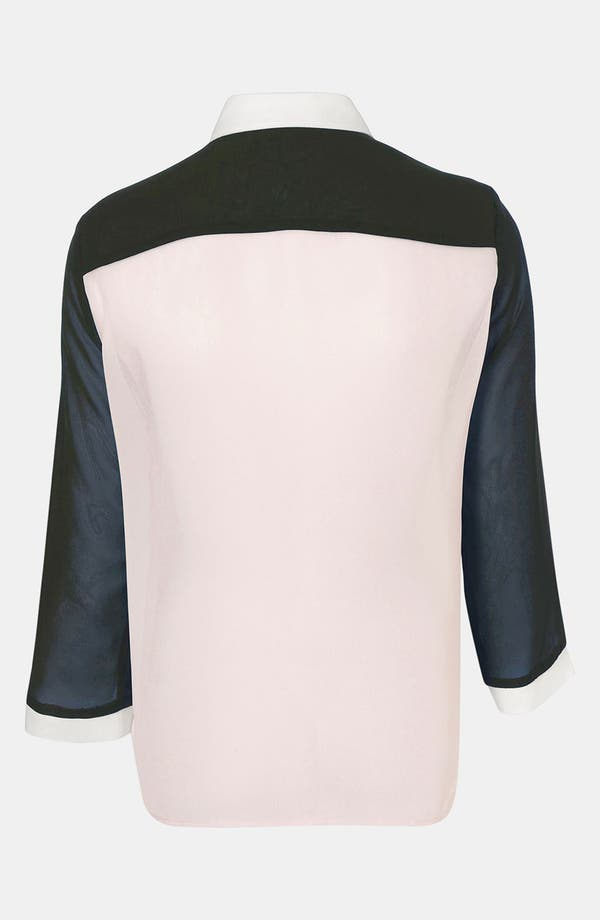 Alternate Image 2  - Topshop Sheer Colorblock Blouse