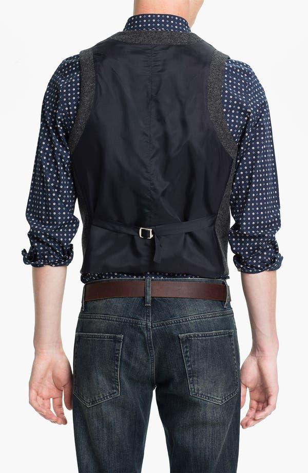 Alternate Image 2  - Topman Wool Waistcoat