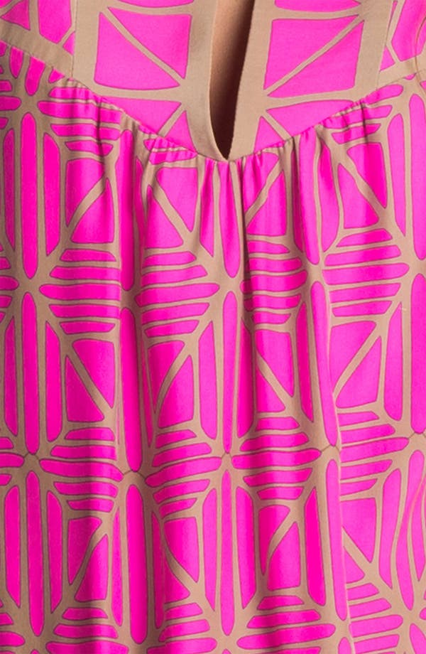 Alternate Image 3  - ALICE & TRIXIE 'Jillian' Bell Sleeve Silk Tunic Dress
