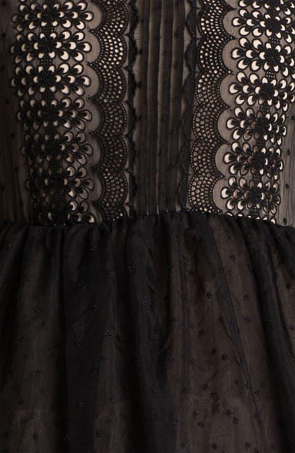 Alternate Image 3  - RED Valentino 'Chamomile' Embroidered Organza Dress