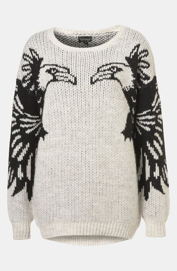 Alternate Image 1 Selected - Topshop 'Mirror Eagle' Sweater