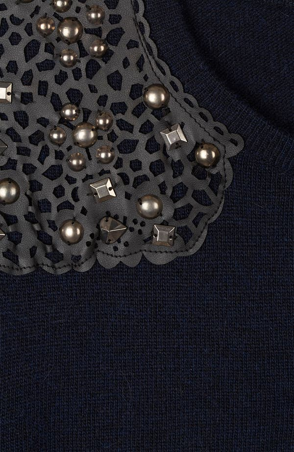 Alternate Image 3  - Topshop Embellished Shoulder Sweater